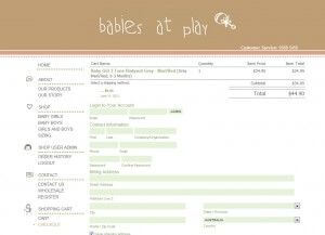 Checkout Page - Babies at Play