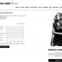 Member Registration Page - Rebecca Judd Loves