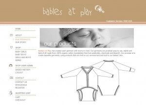 Products Landing Page - Babies at Play