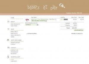 Shopping Cart Page - Babies at Play