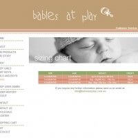 Sizing Chart Page - Babies at Play