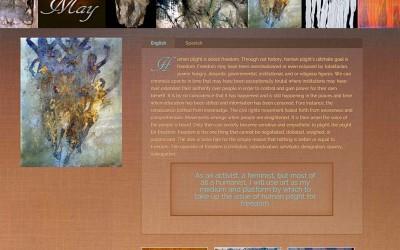 WordPress Artist Website ~ Bell May Art