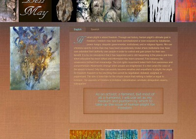 Bell May Art WordPress Theme Home Page