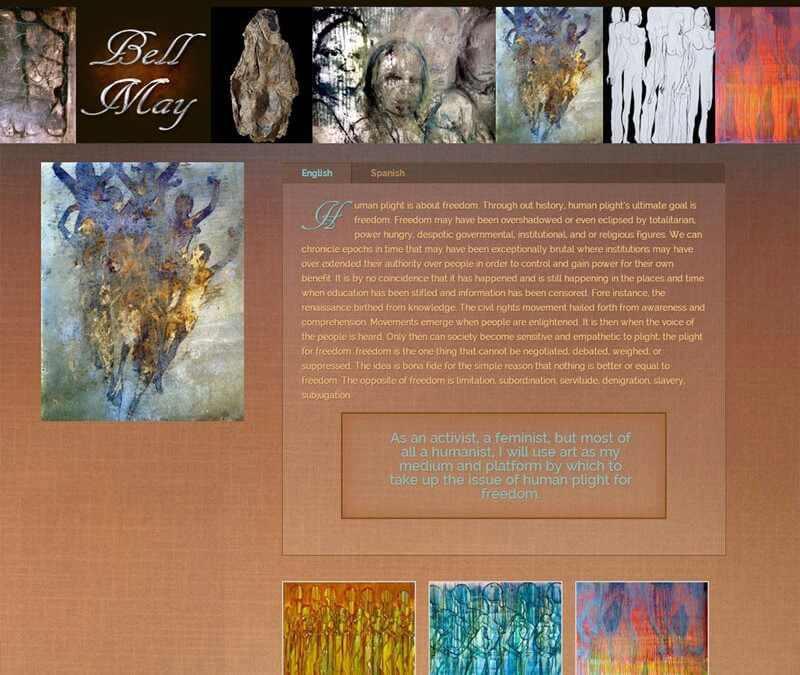 WordPress Artist Website ~ Bell May Art