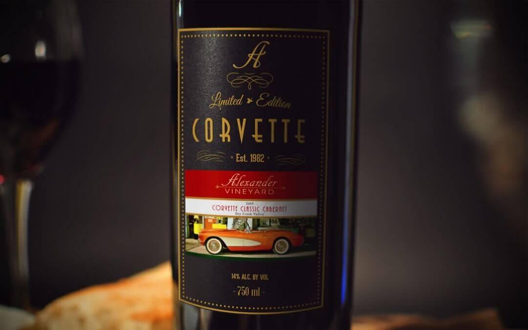 Corvette Cabernet Wine Mockup #3