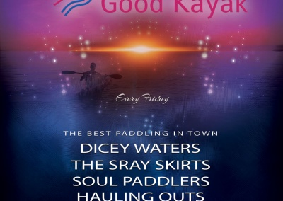 The Good Kayak Logo as Concert Flyer