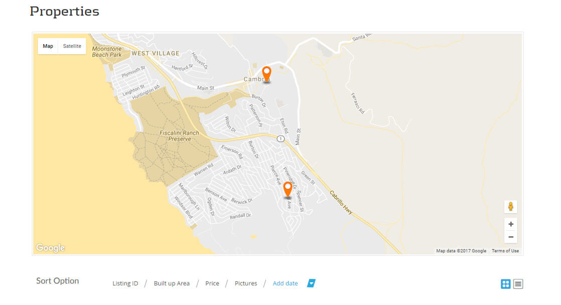 Google Map Color Coordinated - Chalet Realty