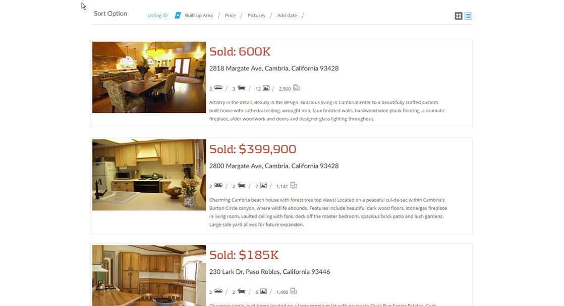 Line Listings - Chalet Realty