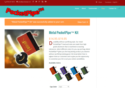 Product Page - PocketPipe E Commerce Website
