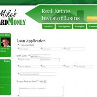 Mike's Hard Money - Loan Application Form