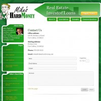 Mike's Hard Money - Contact-Page