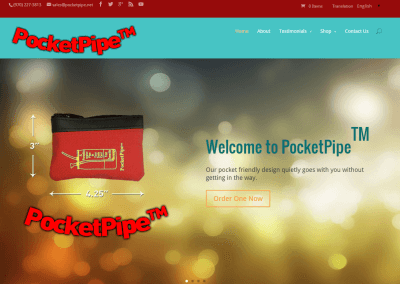 Home Slider Screen - PocketPipe E Commerce Website