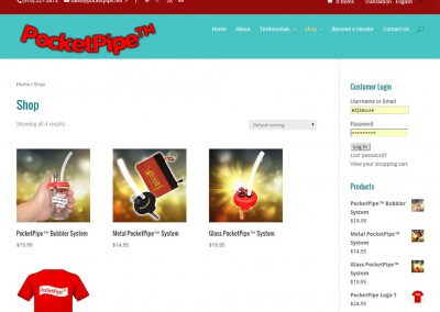 Products - PocketPipe WordPress E Commerce