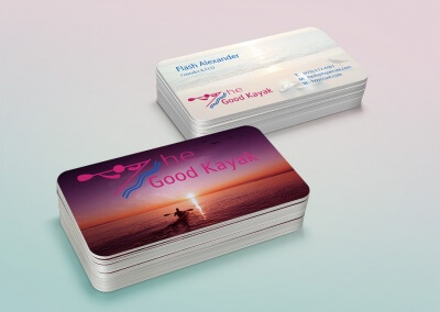 The Good Kayak Logo Business Cards