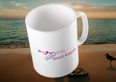The Good Kayak Logo on Coffee Mug